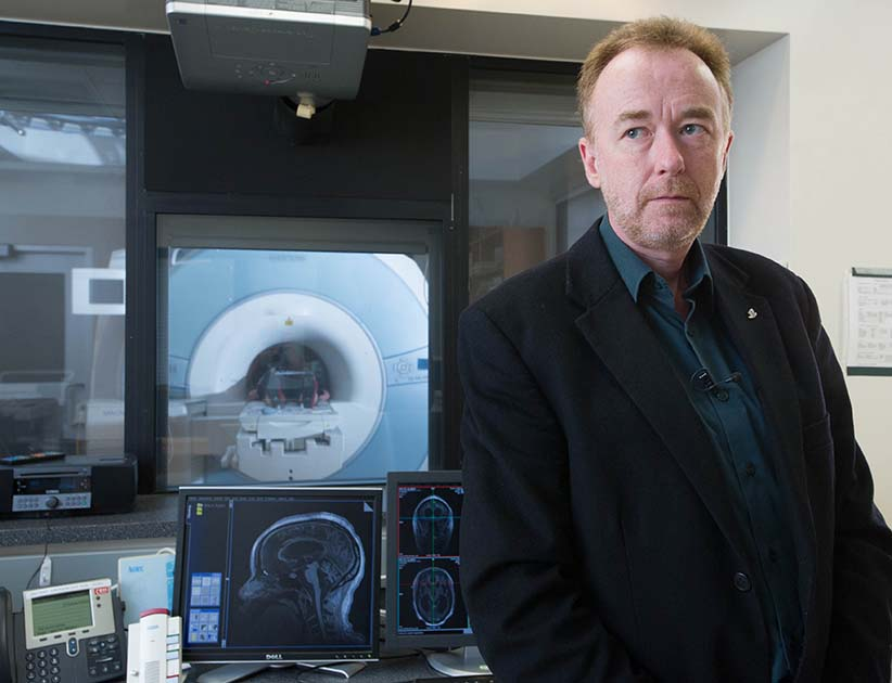 MACLEANS-BRAIN-09.27.13-LONDON, ON: Neuroscientist Dr. Adrian Owen at the Robart Institute, University of Western Ontario. Owen has been demonstrating that functional neuroimaging could be used to detect awareness in a patient who was thought to be incapable of generating response appearing to be in a vegetative state.