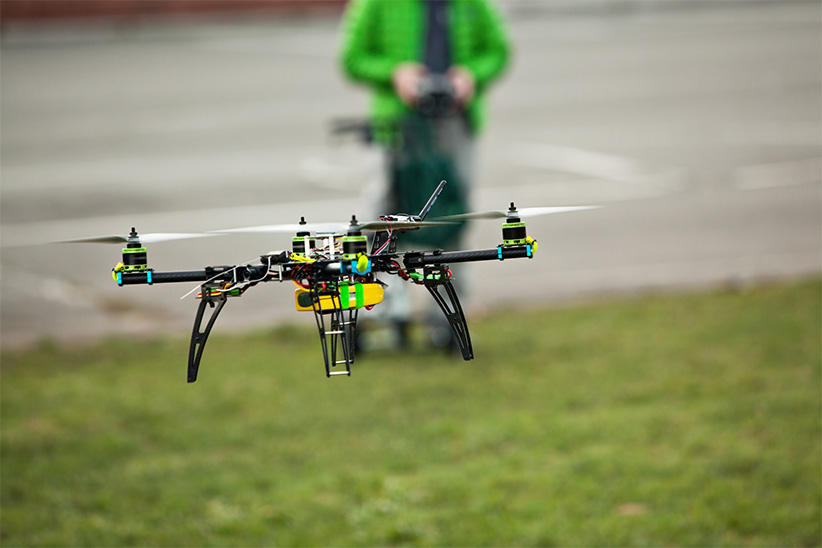 Drone being flown (Shutterstock)