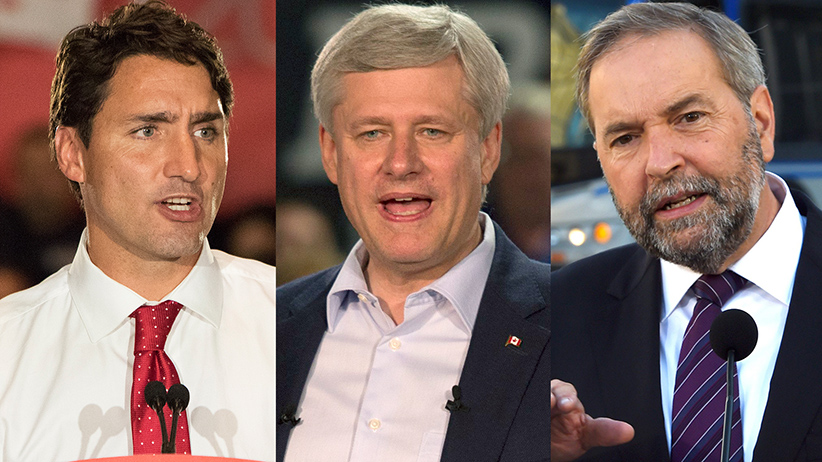 Justin Trudeau, Stephen Harper, Tom Mulcair. (CP;CP;REUTERS)