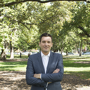 Evan Solomon in Queen's Park October 8th 2015. (Photograph David Zelikovitz)
