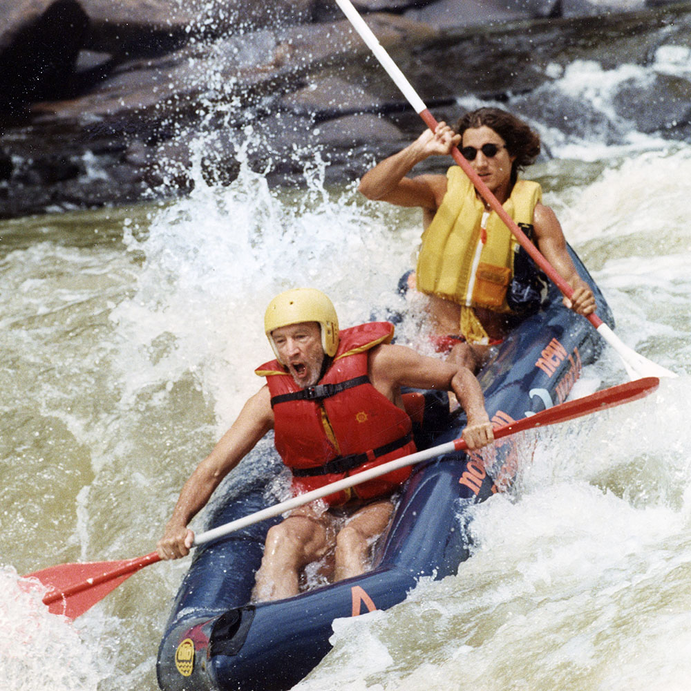 Pierre and Justin Trudeau rafting. Date unknown (Trudeau family)
