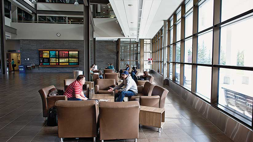 October 03, 2012 - Lethbridge Alberta - Stock images of the University of Lethbridge in Lethbridge, Alberta for the Annual Macleans University Rankings Issue. Photograph by Chris Bolin