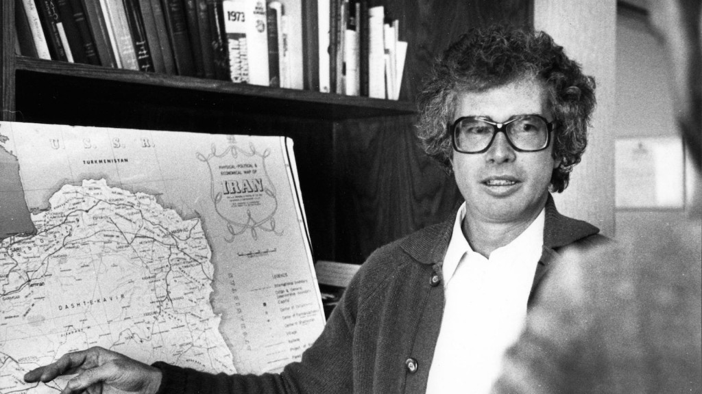 Ken Taylor, the Canadian ambassador to Iran, briefs a reporter on the current conditions in Iran one week before leaving Iran with six Americans in a 1980 file photo. Taylor, who sheltered six U.S. citizens during the 1979 Iranian hostage crisis, has died, says a family friend THE CANADIAN PRESS IMAGES/Peter Bregg