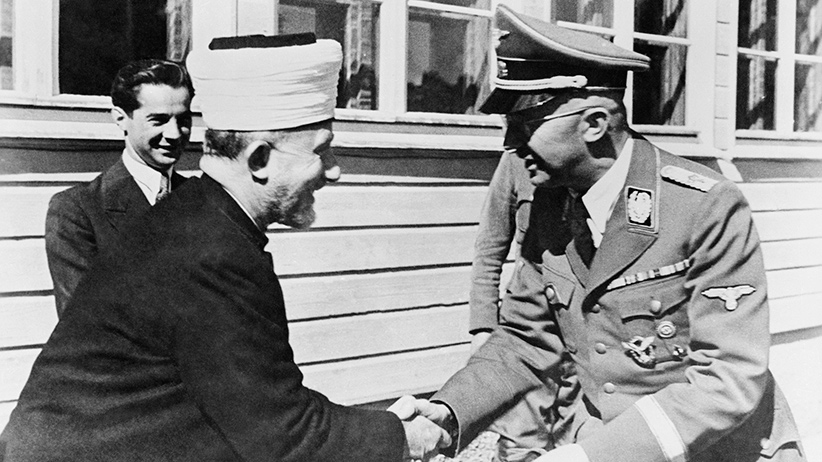 Heinrich Himmler Shaking Hands with Haj Amin El Husseini --- Image by © Bettmann/CORBIS