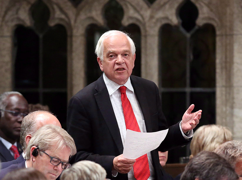 Liberal MP John McCallum stands in the House of Commons during question period on Parliament Hill in Ottawa on Thursday, June 11, 2015. Fred Chartrand/CP