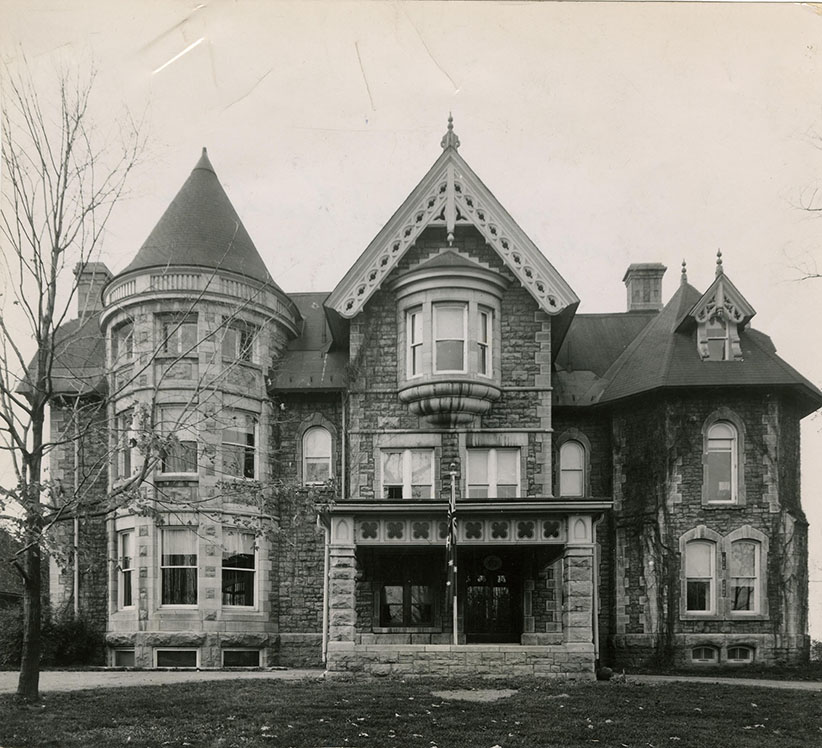 24 Sussex Drive as it appeared before 1950, before it was renovated and transformed into the prime minister's residence. The 1950-51 renovation removed much of the decoration seen in this photo, including the tower and turret. (The Ottawa Citizen) Credit: Citizen files