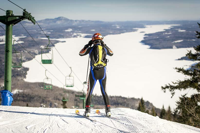 Owls Head; neige; ski; ski alpinisme; ski de randonnée alpine. (Sebastien Desbordes)