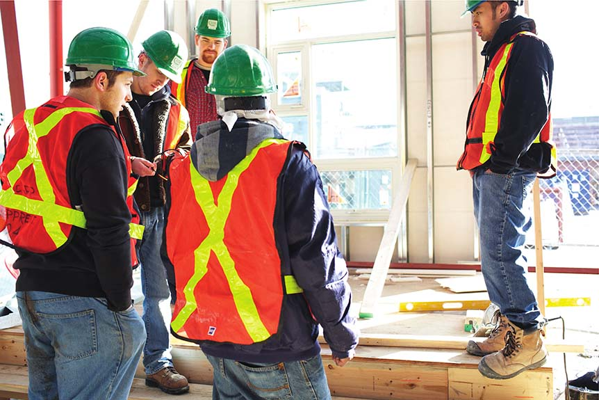 Student of the George Brown College Construction Management program. (GEORGE BROWN)