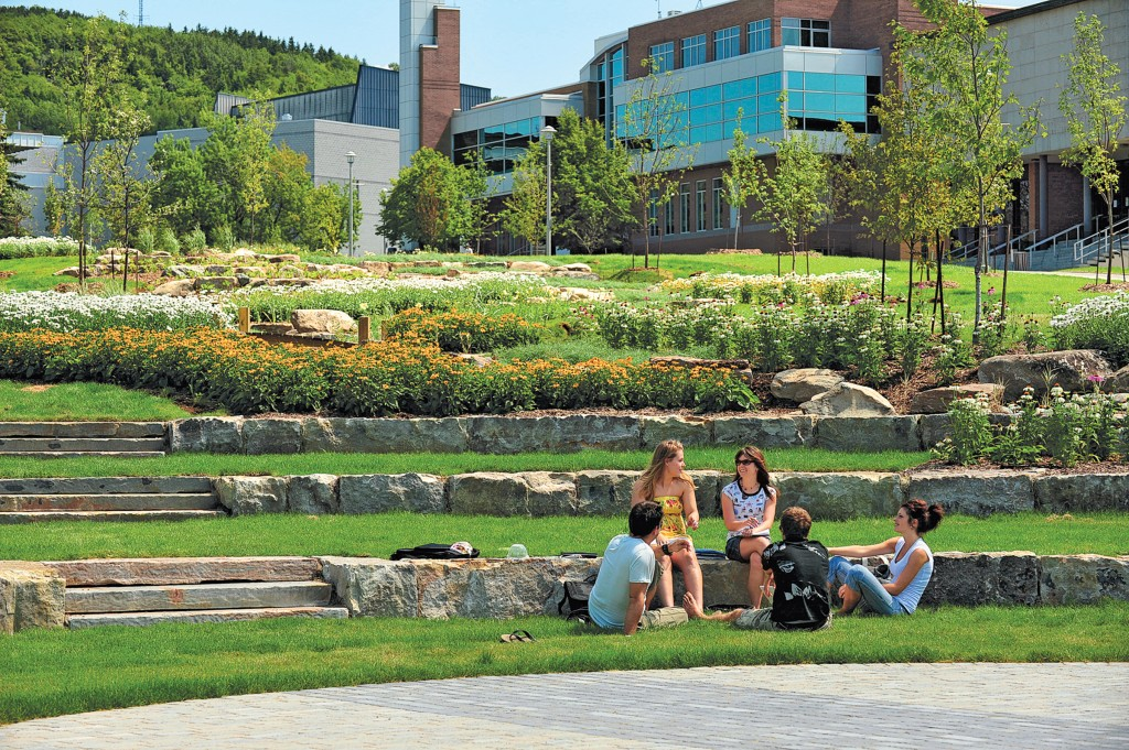 Sherbrooke University Students On Campus