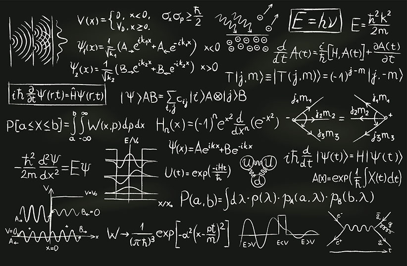 Quantum Physics on a Blackboard (Getty Images)