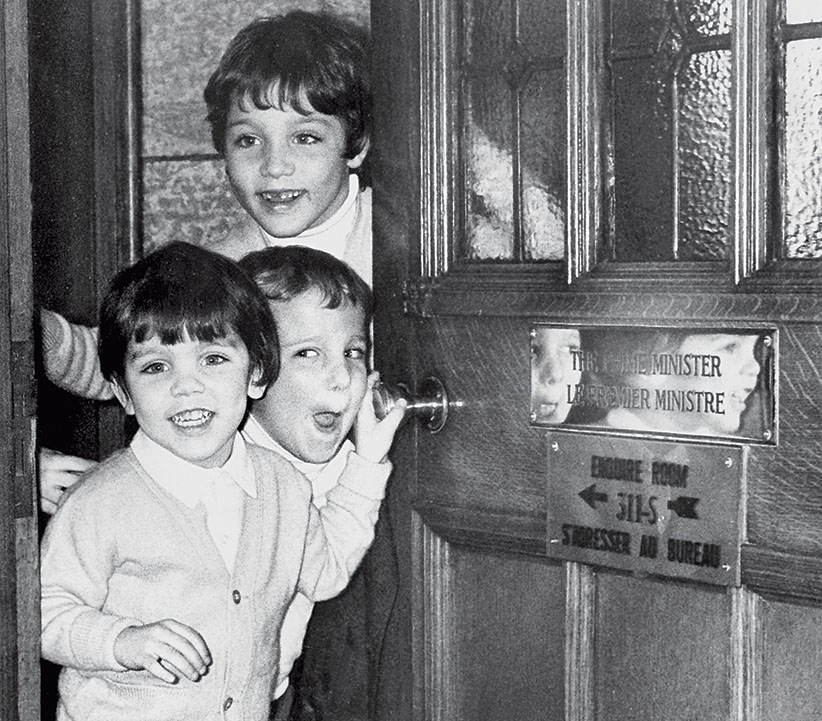 March 1979 Photo Of The Trudeau Children: Michel (front