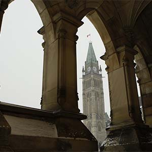 Parliament Hill in Ottawa December 9, 2008. (Photograph by Blair Gable)