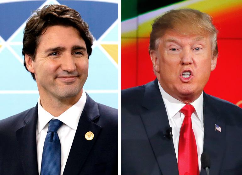 Justin Trudeau and Donald Trump. (Reuters)