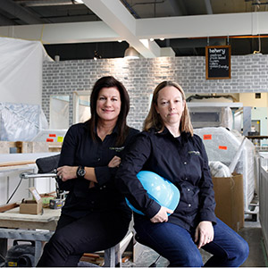 Lara Murphy and Karen Ryan make up the team of Ryan Murphy Construction in Calgary, Alberta. It is not typical for two women to be working on a construction site, but that is the unusual scenario where Lara Murphy and Karen Ryan met in Banff, Alberta. After several conversations and a few joint projects that year, they decided to form Ryan Murphy Construction Inc. in 2008, with their home base in Calgary, Alberta. With over 30 years of combined experience in construction, renovation and project management. (Photograph by Chris Bolin)