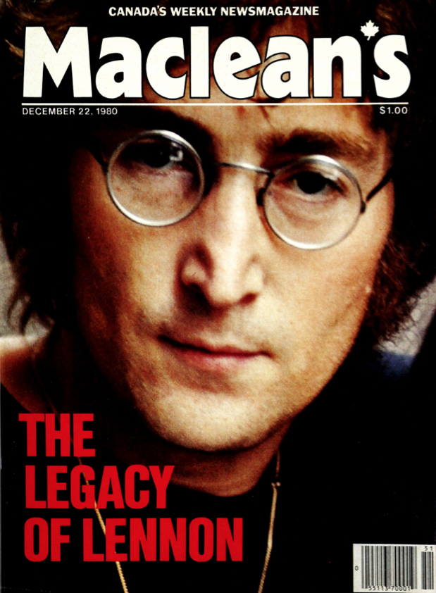 From Maclean's, Dec. 1980: The legacy of Lennon