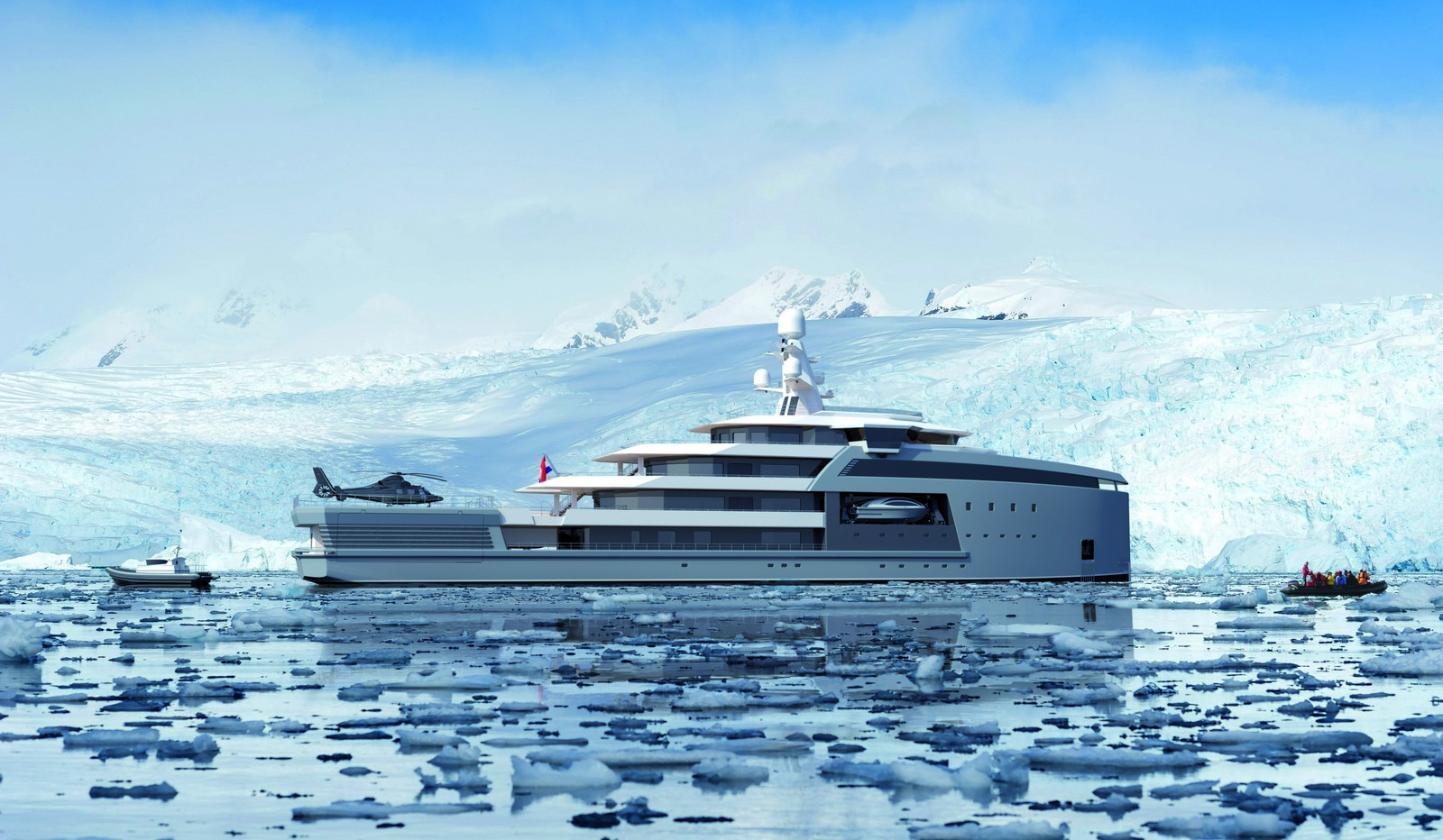 Meet the world's first ice-busting Arctic yachts