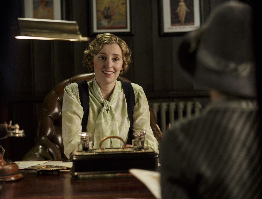 Shown: Laura Carmichael as Lady Edith   (C) Nick Briggs/Carnival Film & Television Limited 2015 for MASTERPIECE
