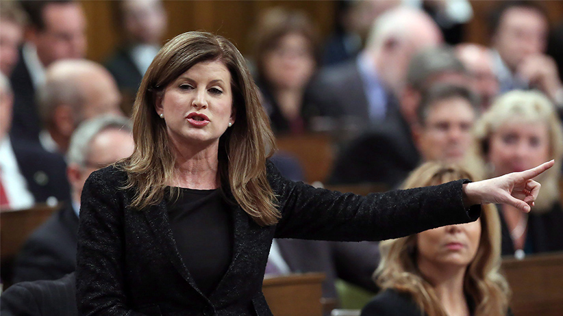 Leader of the Opposition Rona Ambrose asks a question during Question Period in the House of Commons on Parliament Hill in Ottawa, on Thursday, December 10, 2015. FRED CHARTRAND/CP