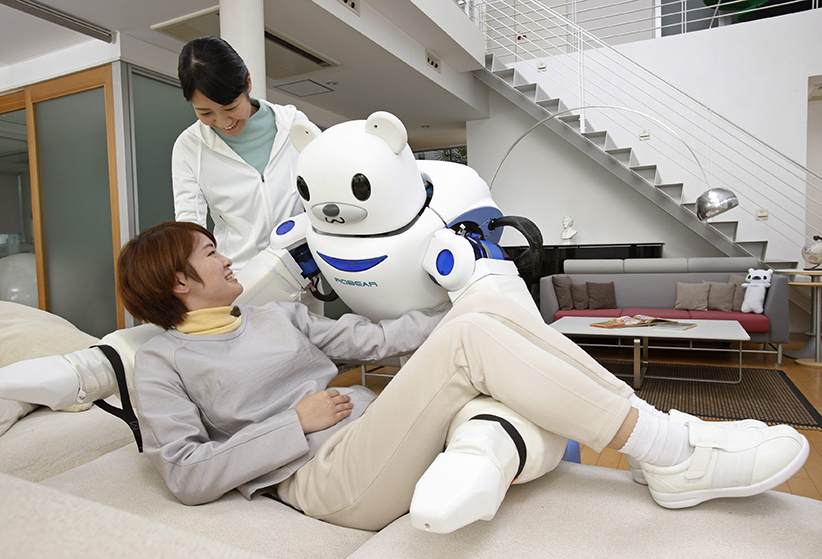 The world's aging population could one day have robotic nursing—in the shape of a friendly bear. Two Japanese companies have joined forces to help make up the shortfall in human carers which will occur as the population ages. (Ferrari Press Agency/CP)