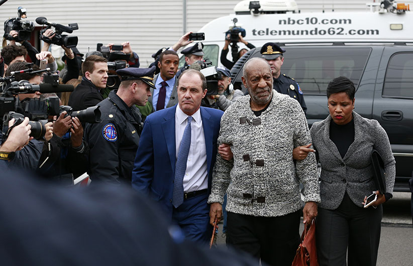 Bill Cosby is arraigned at Montgomery County District Court in Cheltenham, Pa., on Wednesday, Dec. 30, 2015. (David Swanson/Philadelphia Inquirer/TNS/Getty Images)