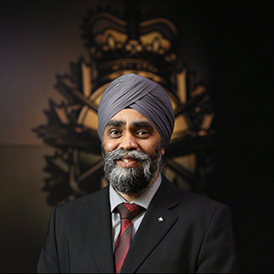 Minister of National Defence Harjit Sajjan poses for a photo after an interview at National Defence Headquarters in Ottawa on Wednesday, November 18, 2015. (PATRICK DOYLE/CP)