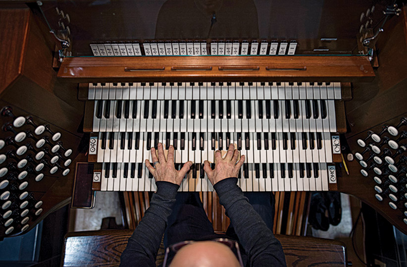 Robert Hiller plays the organ at the Cathedral Church of All Saints in Halifax, NS while tuning the instrument on Thursday, December 17, 2015. (Photograph by Darren Calabrese) Darren Calabrese