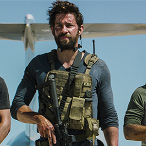 "Left to Right: Pablo Schreiber plays Kris ""Tanto"" Paronto, John Krasinski plays Jack Silva, David Denman plays Dave ""Boon"" Benton and Dominic Fumusa plays John ""Tig"" Tiegen in 13 Hours: The Secret Soldiers of Benghazi from Paramount Pictures and 3 Arts Entertainment / Bay Films in theatres January 15, 2016.  (Paramount Pictures)"