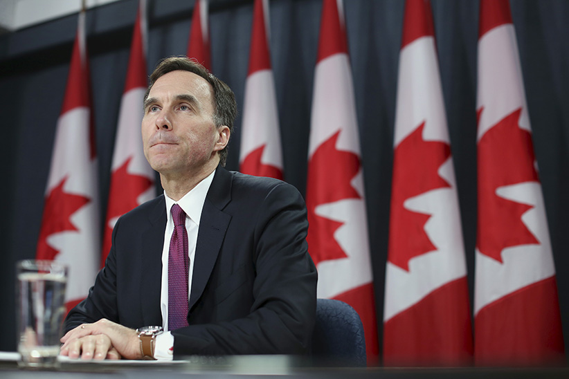 Canada's Finance Minister Bill Morneau listens to a question during a news conference upon the release of the economic and fiscal update in Ottawa, Canada November 20, 2015. (Chris Wattie/Reuters)