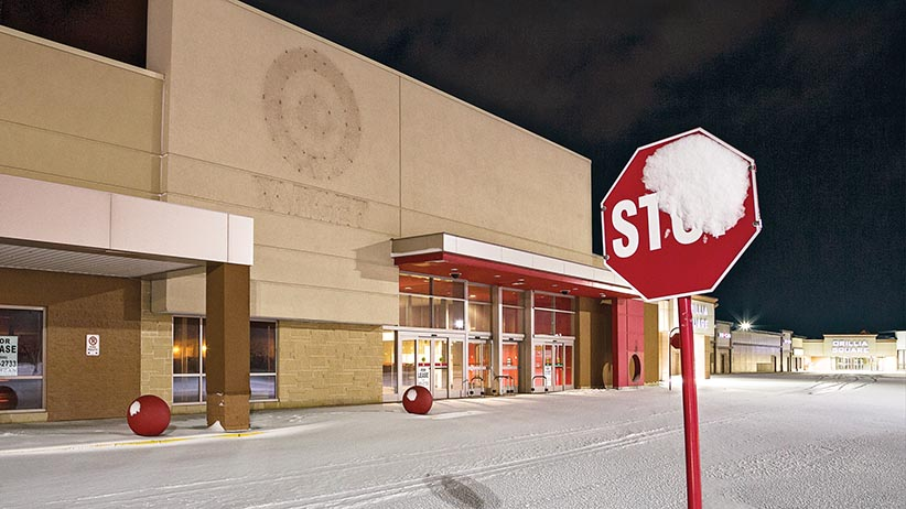 A former Target store in Ontario