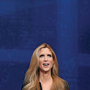 Conservative author and pundit Ann Coulter delivers remarks to the Conservative Political Action Conference (CPAC) at the Marriott Wardman Park February 10, 2012 in Washington, DC. Thousands of conservative activists are attending the annual gathering in the nation's capital.  (Chip Somodevilla/Getty Images)
