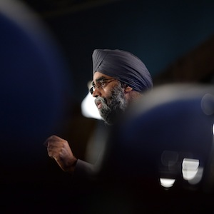 Defence Minister Harjit Sajjan speaks during a conference on foreign affairs in Ottawa on Friday, Jan. 29, 2016. THE CANADIAN PRESS/Sean Kilpatrick