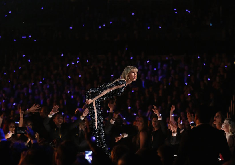 Taylor Swift performs at the 58th annual Grammy Awards on Monday, Feb. 15, 2016, in Los Angeles. (Photo by Matt Sayles/Invision/AP)