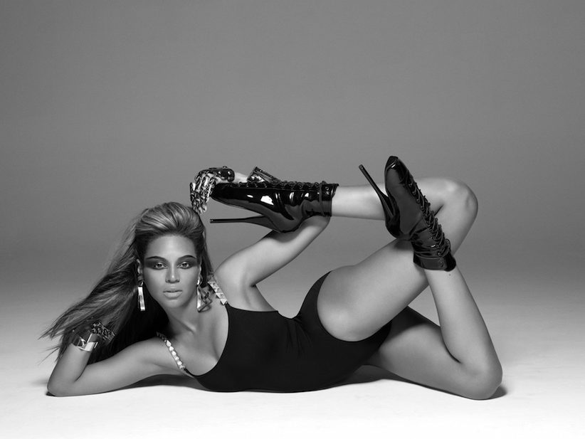 "In this publicity image released by Music World Entertainment/Columbia Records, Beyonce Knowles is shown during the filming of her music video ""Single Ladies (Put A Ring on It)."" (AP Photo/Music World Entertainment/Columbia Records, Peter Lindberg)"