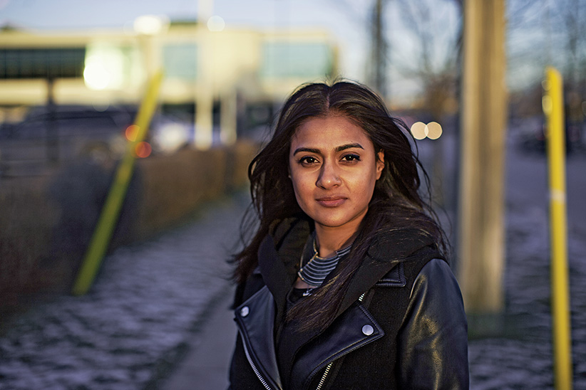 Navi Dhanota, a graduate student, collaborated with York University and the Ontario Human Rights Commission to establish a new precedent for how schools accommodate invisible disabilities. Toronto, Canada. January 11, 2016. (Nick Kozak)