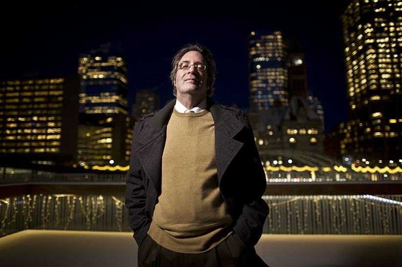Child Advocate Irwin Elman photographed Nathan Phillips Square in downtown Toronto. (Lucas Oleniuk/Toronto Star/Getty Images)