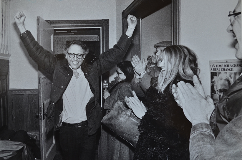 Sanders in 1981, after winning the mayoral election in Burlington, Vermont. (Rob Swanson)