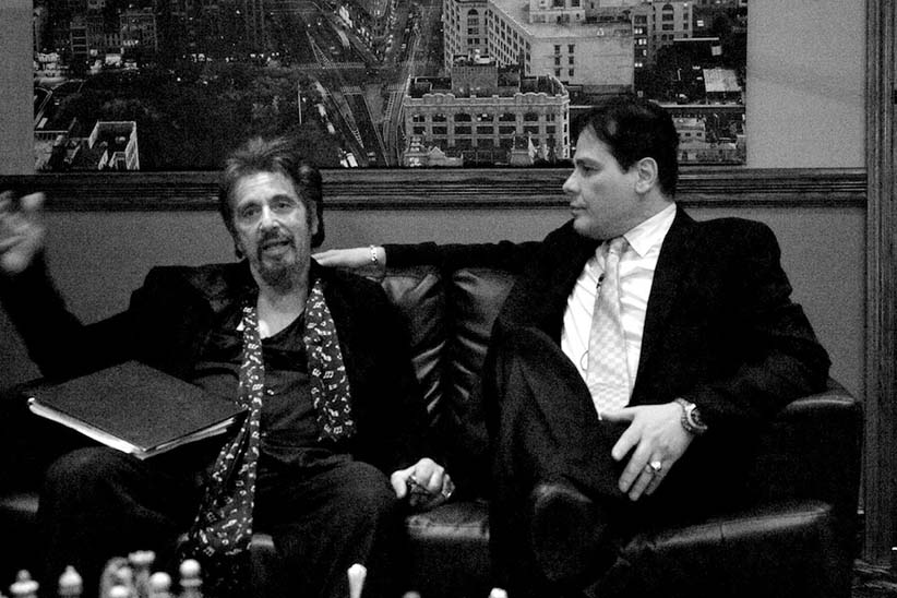 Al Pacino and Frank D'Angelo. (The Being Frank Show)