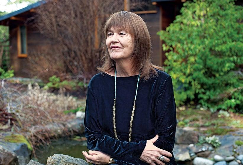 Author Rosemary Sullivan photographed on Salt Spring Island. (Photograph by Cathie Ferguson)