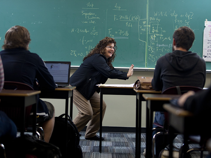 Kathy Tarnai-Lokhorst, Camosun College Mechanical Engineering Technology instructor, is committed to increasing the number of women in engineering. She's photographed teaching students in Victoria, B.C., Thursday, October 29, 2015. (Photograph by Chad Hipolito)