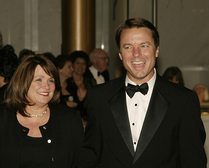 U.S. Senator John Edwards (D-NC), and former vice-presidential candidate, arrives with his wife, Elizabeth at the 2004 Kennedy Center Honors at the Kennedy Center in Washington, December 5, 2004. Tonight's honorees included, singer Sir Elton John, conductor John Williams, soprano Joan Sutherland, husband and wife team Ossie Davis and Ruby Dee and actor Warren Beatty. (Shaun Heasley/Reuters)