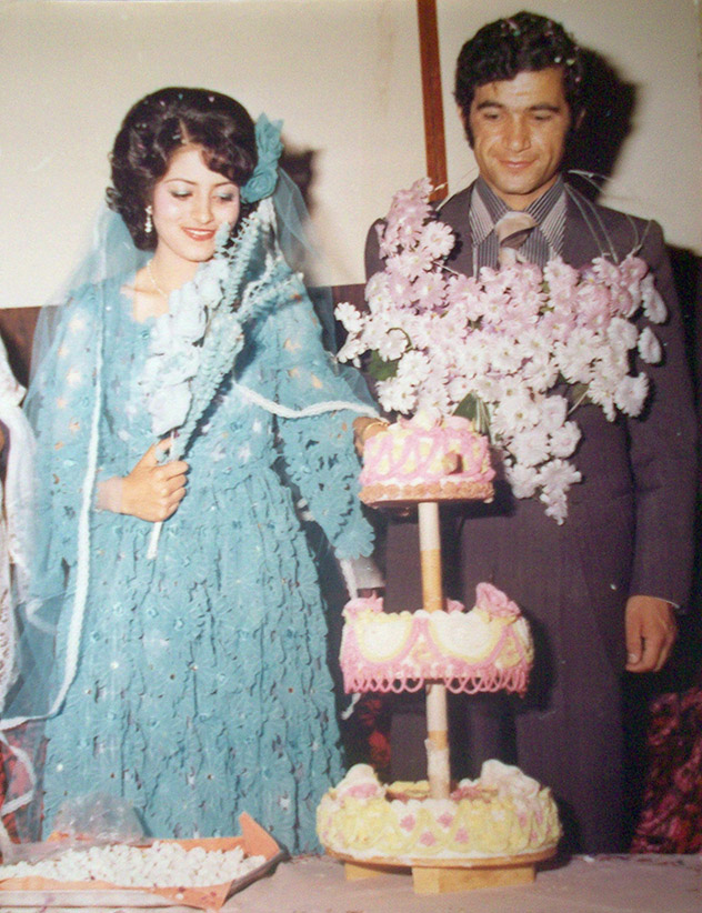 Photo said to show wedding of Rona Amir Mohammad (left) and Mohammad Shafia in Afghanistan in this circa 1980 photo. Photo was sent to the media by email by a purported family member. (CP)