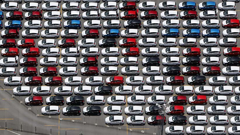 New Ford vehicles are seen at a parking lot of the Ford factory in Sao Bernardo do Campo February 12, 2015. Automobile sales in Brazil this year are expected to post their biggest drop in 16 years, underscoring the depths of an industry crisis that has triggered layoffs and trade tensions, national dealership association Fenabrave said on March 3, 2015. New registrations are expected to fall 10 percent from a year earlier and could reach their lowest level since 2009, following steep drops in January and February.Sales of cars, trucks and buses tumbled 28 percent in February from January, Fenabrave reported on Tuesday. January sales had plunged 31 percent from December. Brazilian consumer and business confidence is crumbling as rising interest rates and accelerating inflation squeeze household budgets, choking off one of the few sources of economic growth in recent years. Picture taken February 12, 2015. (Paulo Whitaker/Reuters)