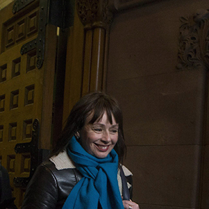 Lucy DeCoutere leaves the Toronto courthouse following the reading of the verdict in the Jian Ghomeshi sexual assault trial on Thursday, March 24, 2016. DeCoutere was one three women who accused Ghomeshi of sexual assault, and the only one to go public with her accusations. THE CANADIAN PRESS/Chris Young