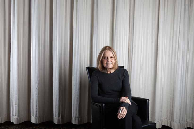 Gloria Steinem portrait after speaking at a fundraiser luncheon for the Holyoke Care Center in Holyoke, MA. (Photograph by Jane Shauck)