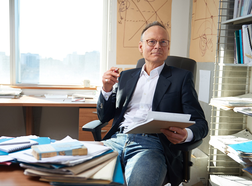 Professor Ross Finnie is photographed in his office at the University of Ottawa. (Photograph by Jessica Deeks)
