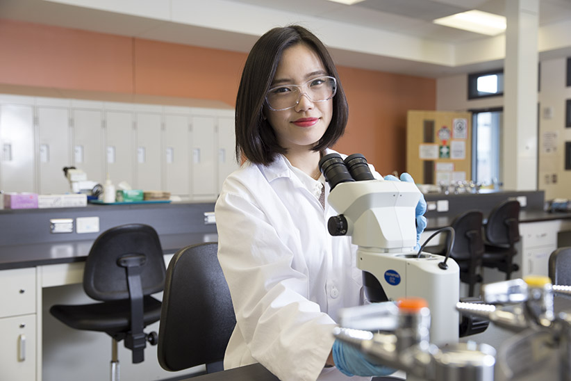 Second Year Biology student at York University, Sherry Wong. (Photograph by Kayla Chobotiuk)