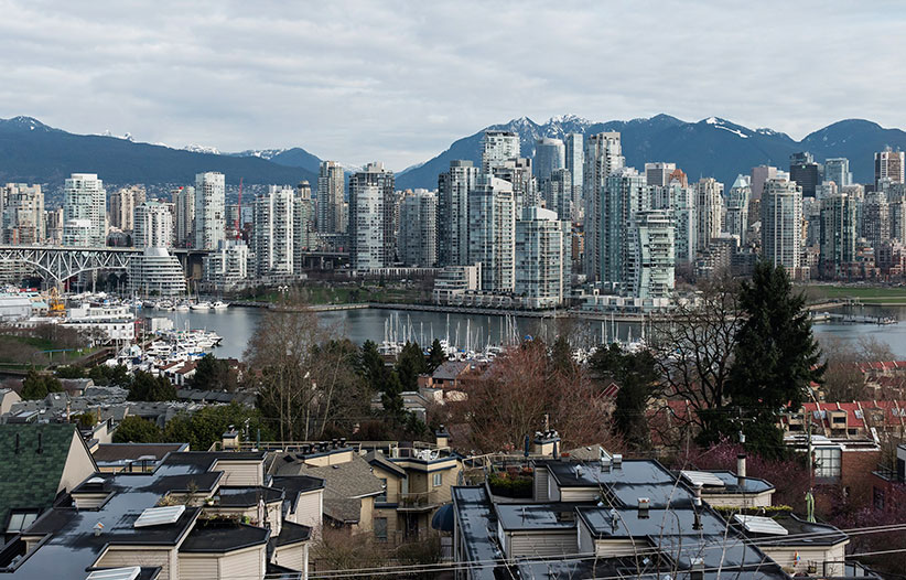 A high-angle view of Vancouver's False Creek real estate as seen from the Fairview Slopes neighbourhood, Vancouver, B.C., February 24, 2016. (Bayne Stanley/CP)