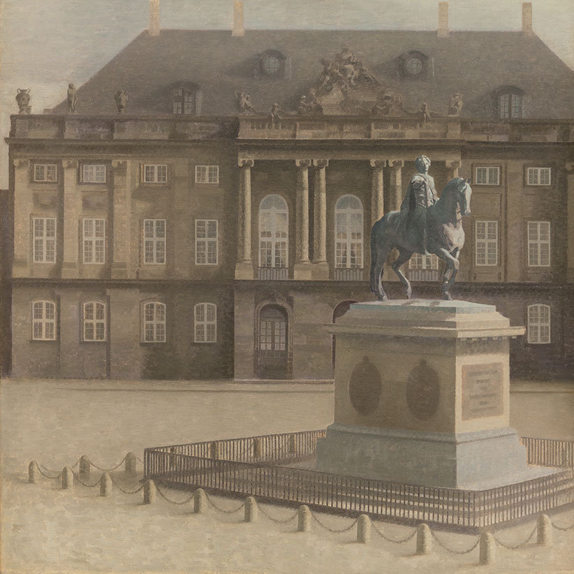 Amalienborg Palace Square, Copenhagen, 1896. Oil on canvas, 136.5 x 136.5 cm (Vilhelm Hammershøi/National Gallery of Denmark)