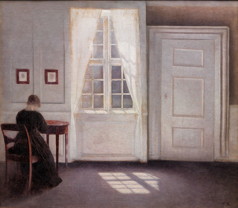 Interior in Strandgade, Sunlight on the Floor, 1901. Oil on canvas, 46.5 x 52 cm (Vilhelm Hammershøi/National Gallery of Denmark)