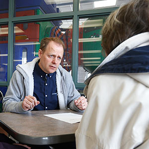 April 9, 2016 - 160409  - Winnipeg Liberal MP Kevin Lamoureux meets with people at a fast food restaurant in his north west Winnipeg constiuency Saturday April 9, 2016. Lamoureux has made himself available for the last 20 years to talk with people every Saturday from 10 until 2. Not surprisingly, Lamoureux is the most talkative MP in Ottawa. John Woods / Maclean's